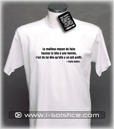 Tee-Shirt citation Sacha Guitry 3