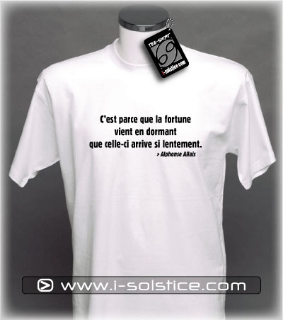 Tee-Shirt citation Alphonse Allais