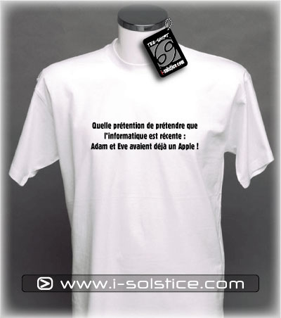 Tee-Shirt citation Adam & Eve
