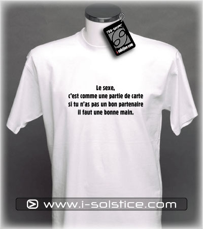 Tee-Shirt citation Le sexe...